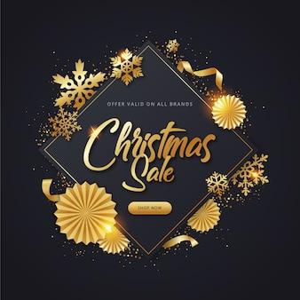 Gouden kerst verkoop concept