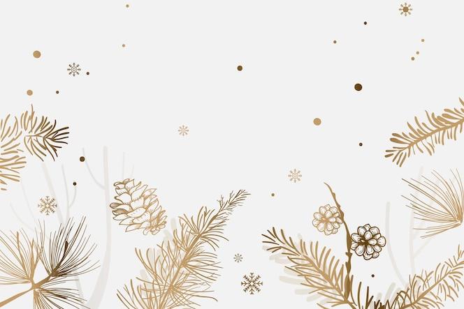 Gouden kerstboom feestelijke achtergrond