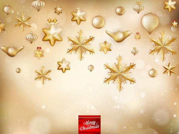 Gouden kerstdecoratie.