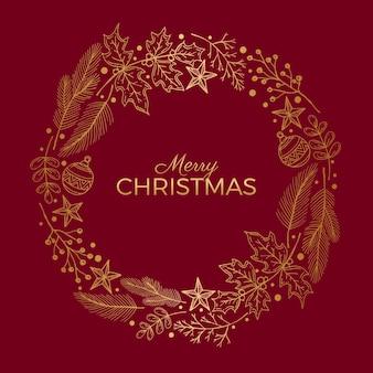Gouden kerstkrans