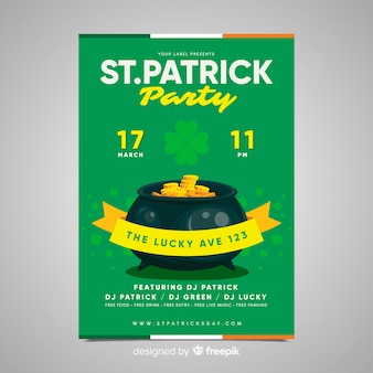 Gouden ketel st patrick's day party poster