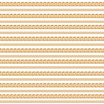 Gouden ketting lijnen luxe naadloze patroon.