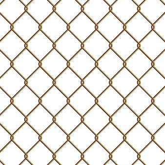 Gouden ketting link omheining