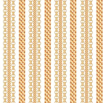 Gouden ketting sieraden naadloze patroon.
