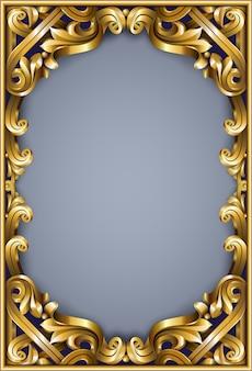 Gouden klassiek frame van de rococo barok