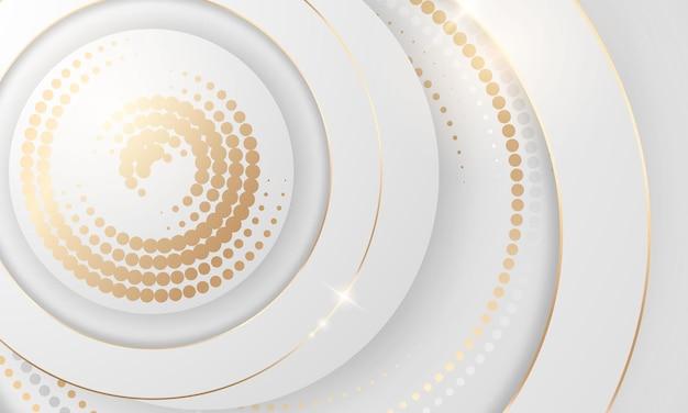 Gouden kleurovergang chrome kleur halftone textuur achtergrond. vector gouden, koperen messing en metalen sjabloon.