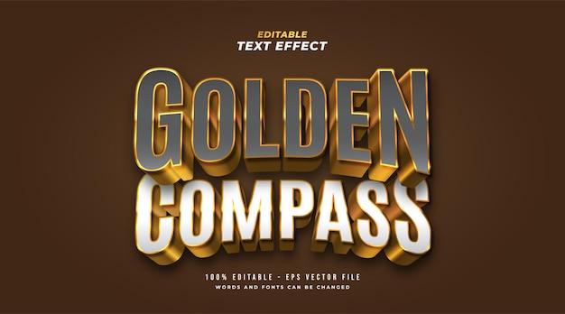 Gouden kompas bewerkbaar tekststijleffect
