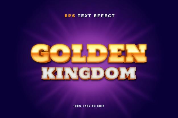 Gouden koninkrijk teksteffecten