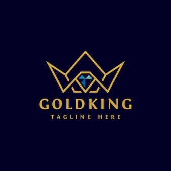 Gouden kroon logo ontwerp