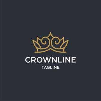 Gouden kroon logo regelsjabloon