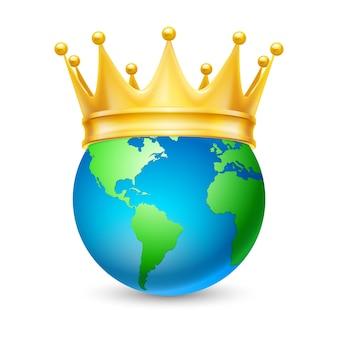 Gouden kroon op de hele wereld