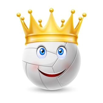 Gouden kroon op een volleybal bal