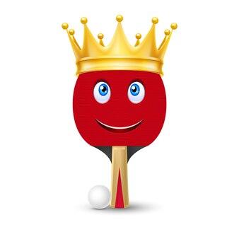 Gouden kroon op tennisracket