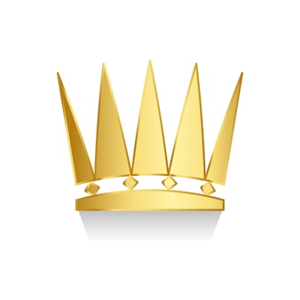 Gouden kroon op witte achtergrond