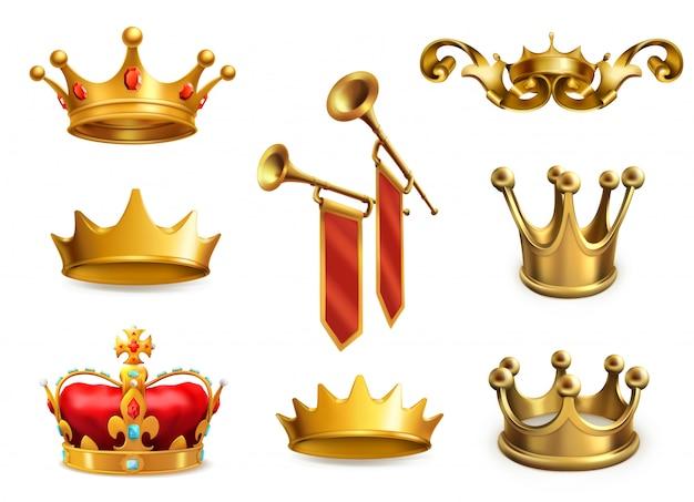 Gouden kroon van de koning.