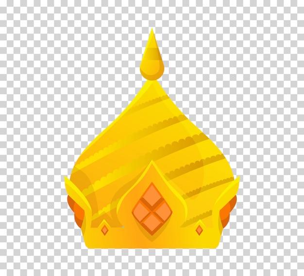Gouden kroonontwerp. koninklijke koning, koningin, prinses kroon.