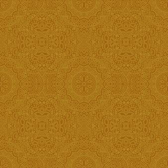 Gouden kunst met gedetailleerd naadloos lineair patroon