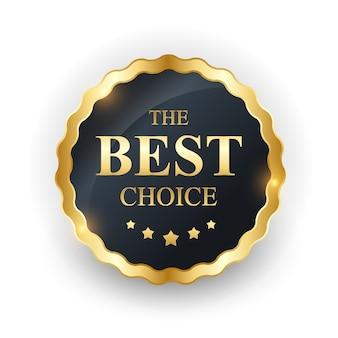 Gouden label de beste keuze-sjabloon.