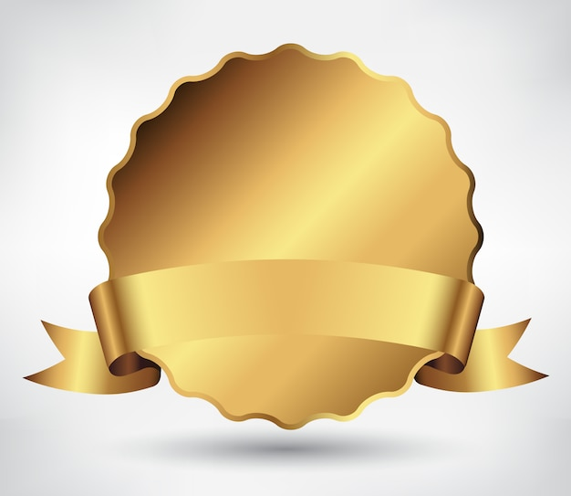 Gouden labelsjabloon