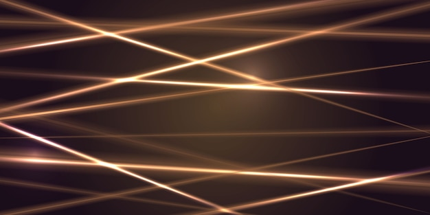 Gouden laserlichtstraal