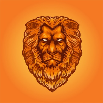 Gouden leeuwkop