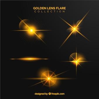 Gouden lens flare-verzameling