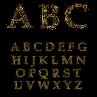 Gouden letter, alfabetische lettertypen