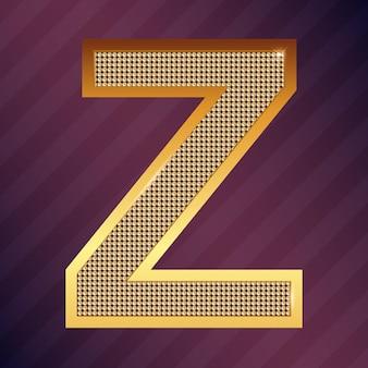 Gouden letter z vector lettertype voor logo of pictogram