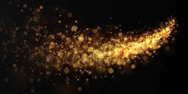Gouden licht vakantie komeet
