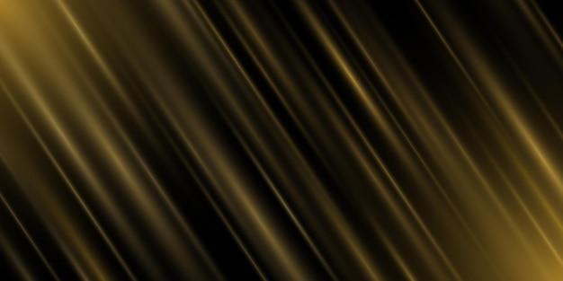 Gouden lichteffect van stralen geïsoleerd op zwarte achtergrond. luxe abstracte achtergrond voor vakantie. gloeiende lijnen. vector illustratie