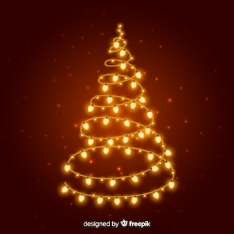 Gouden lichtenkerstboom