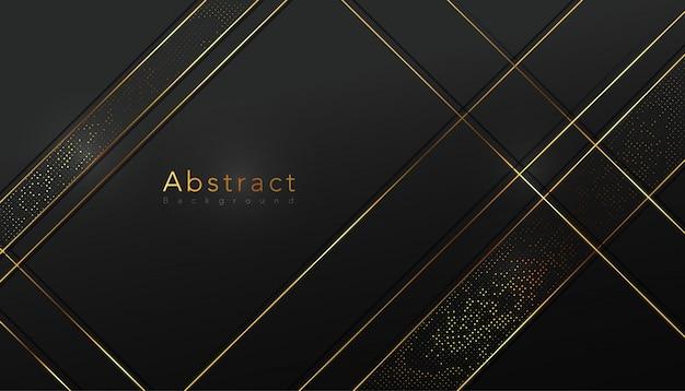 Gouden lijn en halftoon stijl achtergrond