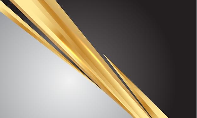 Gouden lijn slash grijze donkere lege ruimte moderne luxe achtergrond.