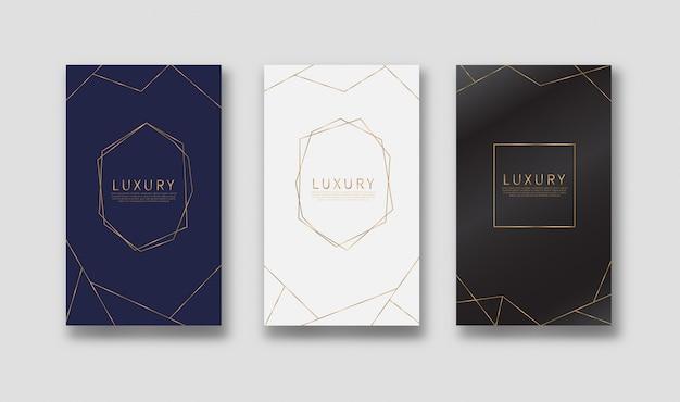 Gouden lijnen patroon achtergrond. luxe stijl.