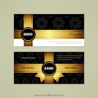 Gouden lint elegant kortingsbon