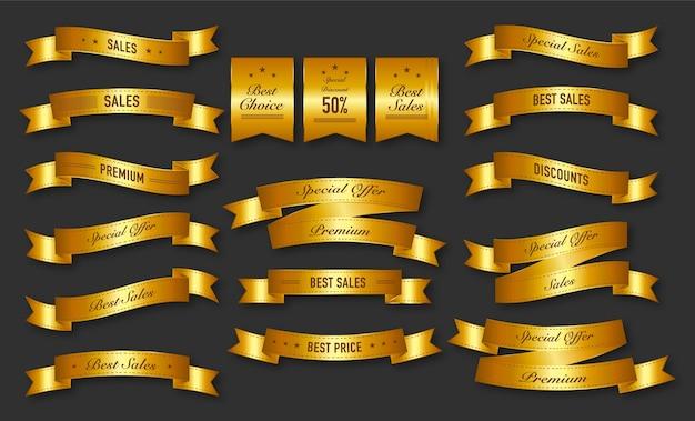 Gouden linten labelcollectie