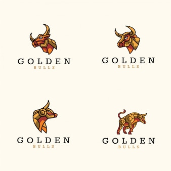 Gouden logo van stieren