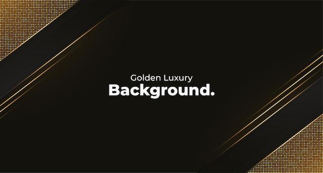Gouden luxe achtergrond sjabloon met geometrische vormen