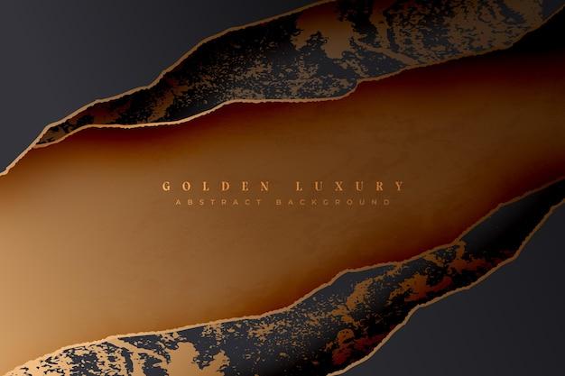 Gouden luxe achtergrondontwerp
