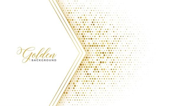 Gouden luxe halftone glitter witte achtergrond
