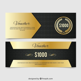 Gouden luxe korting banners