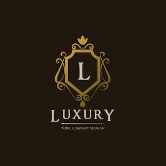 Gouden luxe logo ontwerp
