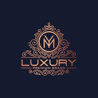 Gouden luxe logo ontwerpsjabloon vector