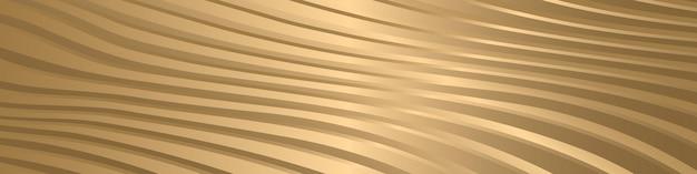 Gouden luxe textuur gestreepte golf lijnen moderne patroon achtergrond