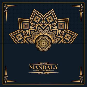 Gouden mandala-achtergrond