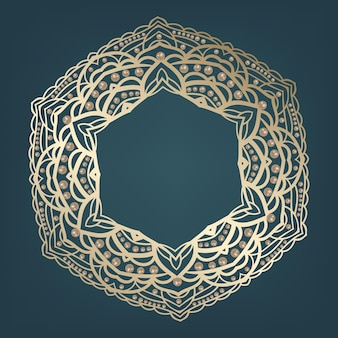 Gouden mandala arabische en indiase motieven