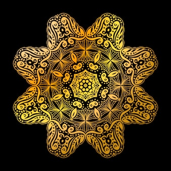 Gouden mandala cirkel patroon