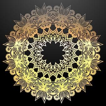 Gouden mandala etnische sieraad.