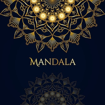 Gouden mandala-kunstwerkachtergrond