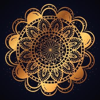 Gouden mandala patroon achtergrond